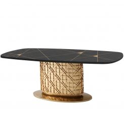Theodore Alexander Small Oval Dining Table Colter II - Bronze Oak