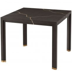 Theodore Alexander Square Dining Table Marloe - Black