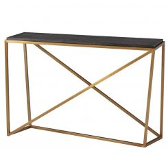 TA Studio Console Table Crazy X - Rowan, Brass Leg