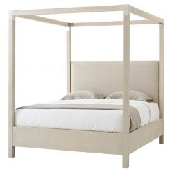 Theodore Alexander Bed Claudia in Matrix Marble - Overcast Finish